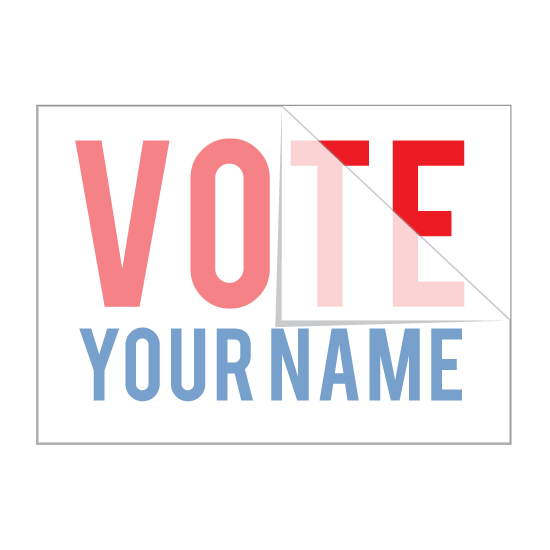 Create a custom political sticker with your text or logo or browse other designs and find something you like