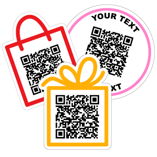 qr code stickers and decals website urls contact info text more